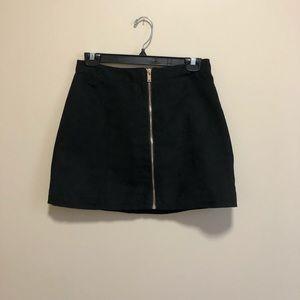 Black Faux Suede Mini Skirt, size 6